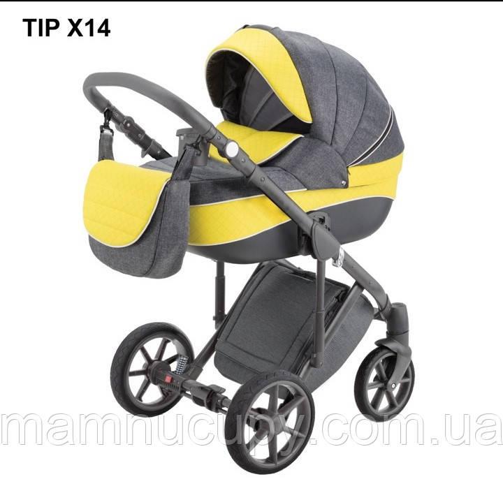Детская универсальная коляска 2 в 1 Adamex Dragon X14 (адамекс драгон)