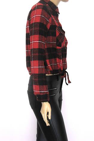 Жіноча коротка  сорочка в клітку, фото 2