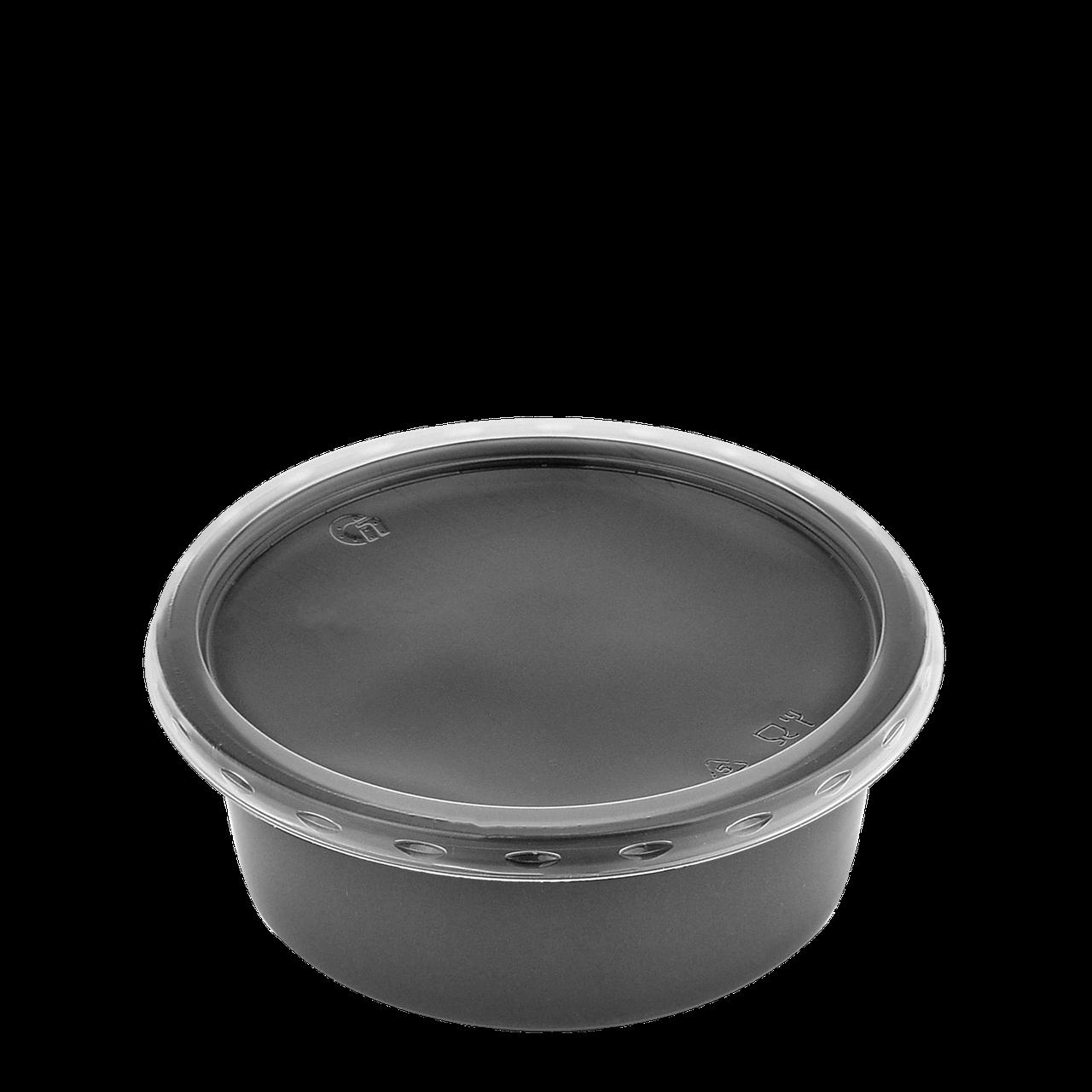 Супник с крышкой для холодных и горячих блюд  250 мл черный (115 К)