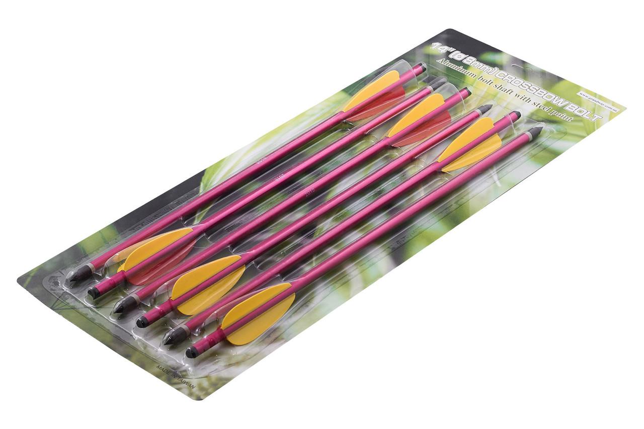 Набор стрел для арбалета (355 мм, алюминий, 6 шт) AL14/6R