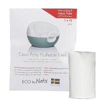 Одноразовые смываемые пакеты из 100% перерабатываемой пленки Eco by Naty 30 шт