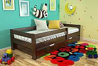 Кровать детская Arbor Drev Альф сосна 90х200, Темный орех