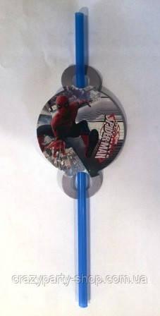 Трубочка для напитков  Спайдермен Человек Паук