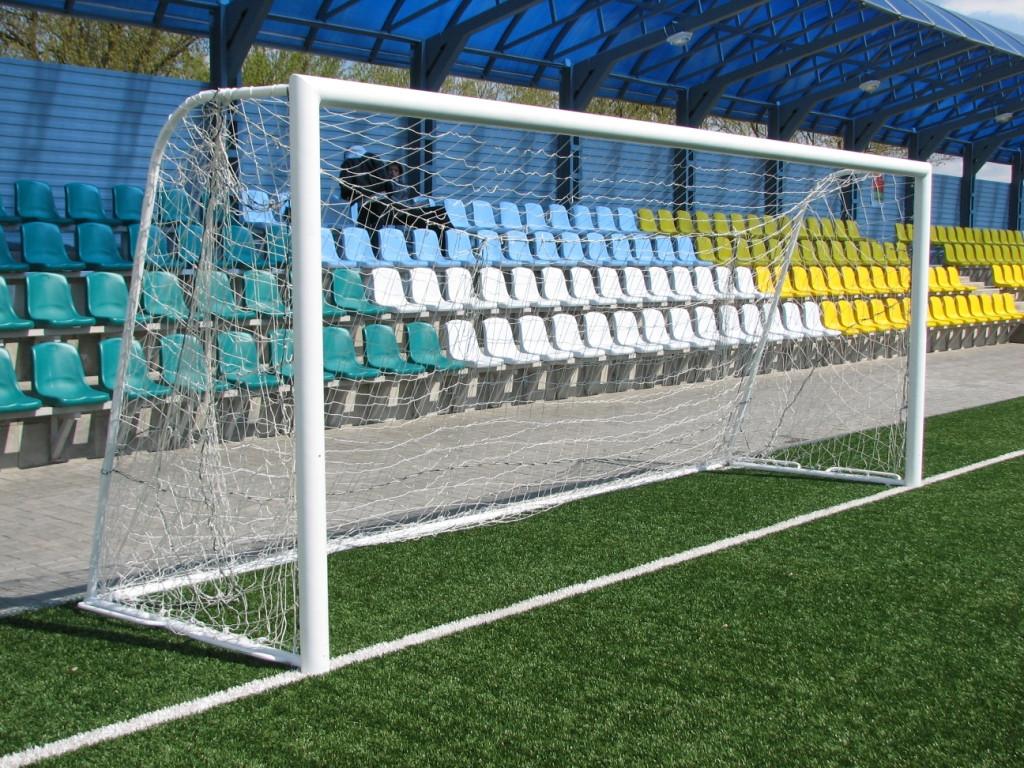 """Сетка футбольная """"Юниор"""", шнур 2,5 мм, ячейка 12 см, 2*5*1,1"""