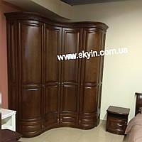 Дерев'яний радіусний шафа спальні Омега, фото 1