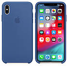 "SILICON CASE IPHONE XS/XS MAX ""DELFT BLUE"", фото 2"