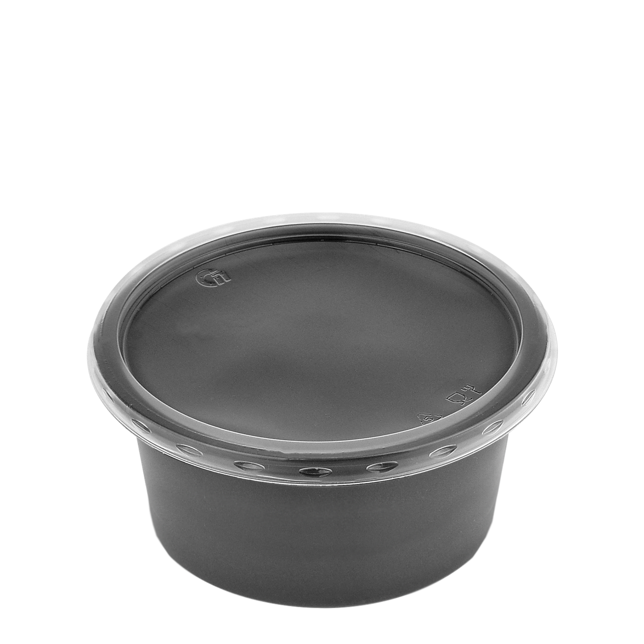 Супник с крышкой черный 500 мл для холод/гор.блюд 115К (разогрев в СВЧ),(50 шт в уп.)