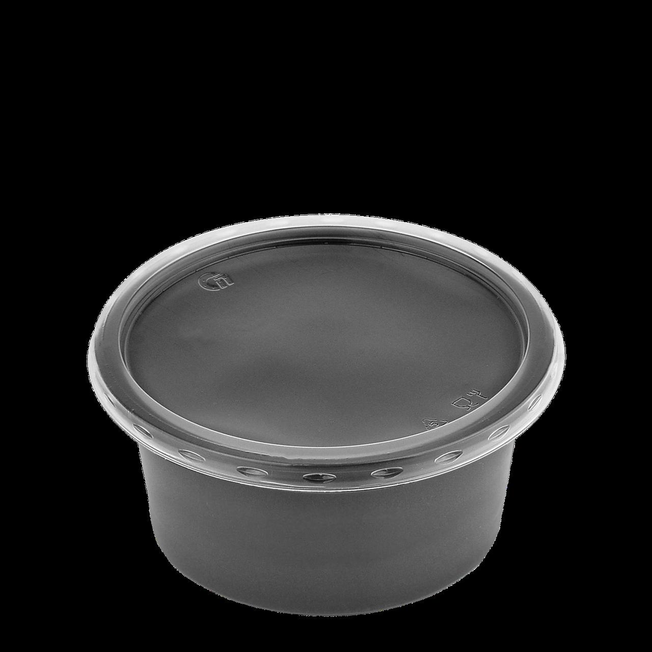 Супник з кришкою для холодних та гарячих страв 500 мл чорний