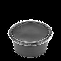 Супник з кришкою для холодних та гарячих страв 500 мл чорний, фото 1