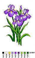"""Набор для вышивки нитками """"Цветы"""". А5-069"""