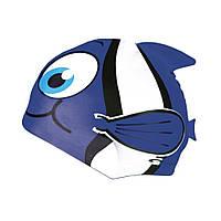 Шапочка для плавания детская Spokey Rybka (original) для бассейна, силикон