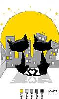 "Набор для вышивки нитками ""На закате"". А5-077"