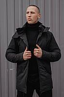 Мужская зимняя парка Pobedov «CS 1.6» Black + шапка в подарок