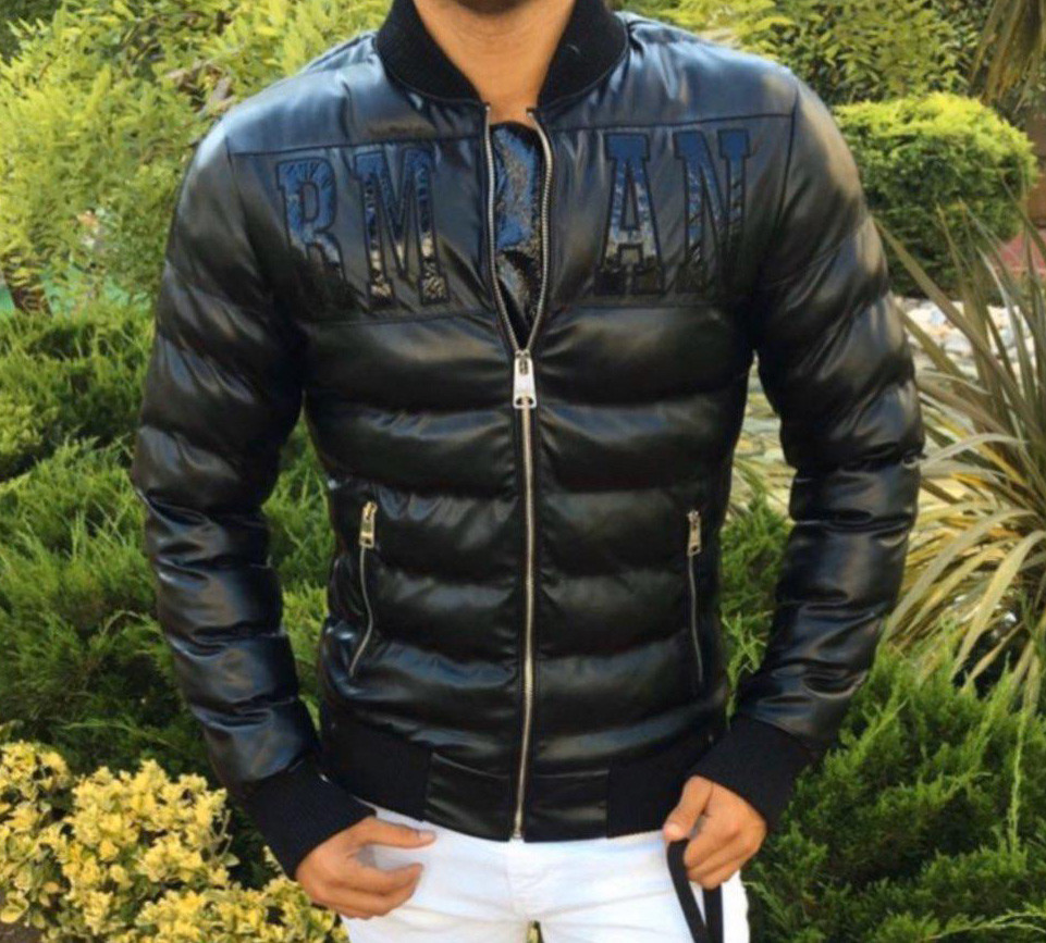 Куртка мужская Armani D8830 черная