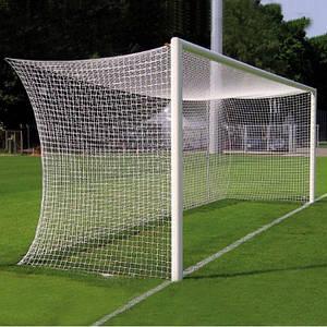 Сетка футбольная для футбольных ворот D-3,5 мм, яч.150*150 мм, 2,55*7,5*1,5 м