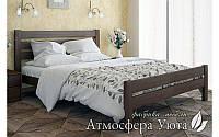 """Двуспальная деревянная кровать """"Селена Люкс"""" 140х200"""