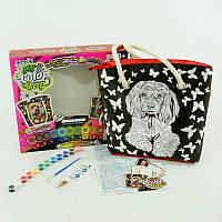 Сумка раскраска-антистресс Danko Toys My Creative bag Собака Черный с белым (AIQYGIUSQ)