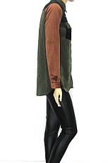 Стильна модна жіноча вельветова сорочка, фото 3