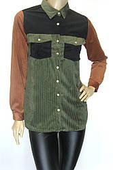 Стильна модна жіноча вельветова сорочка