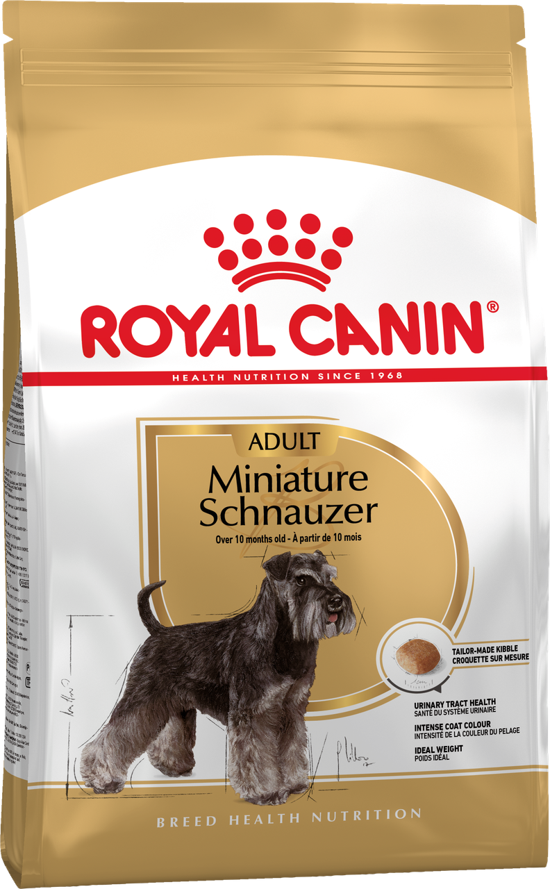 Сухой корм Royal Canin Miniature Schnauzer Adult для собак, 7,5КГ