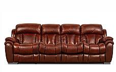 Четырехместный кожаный диван Бостон (раскладной + 1 реклайнер), фото 3