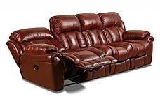 Четырехместный кожаный диван Бостон (раскладной + 1 реклайнер), фото 2