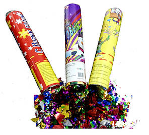 Пневмохлопушка 20 см, хлопушка пневматическая праздничная Новый Год