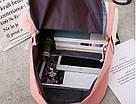 Рюкзак набор для девочки 4 предмета (сумка, клатч, пенал)с помпоном., фото 8