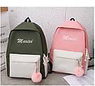Рюкзак набор для девочки 4 предмета (сумка, клатч, пенал)с помпоном., фото 7
