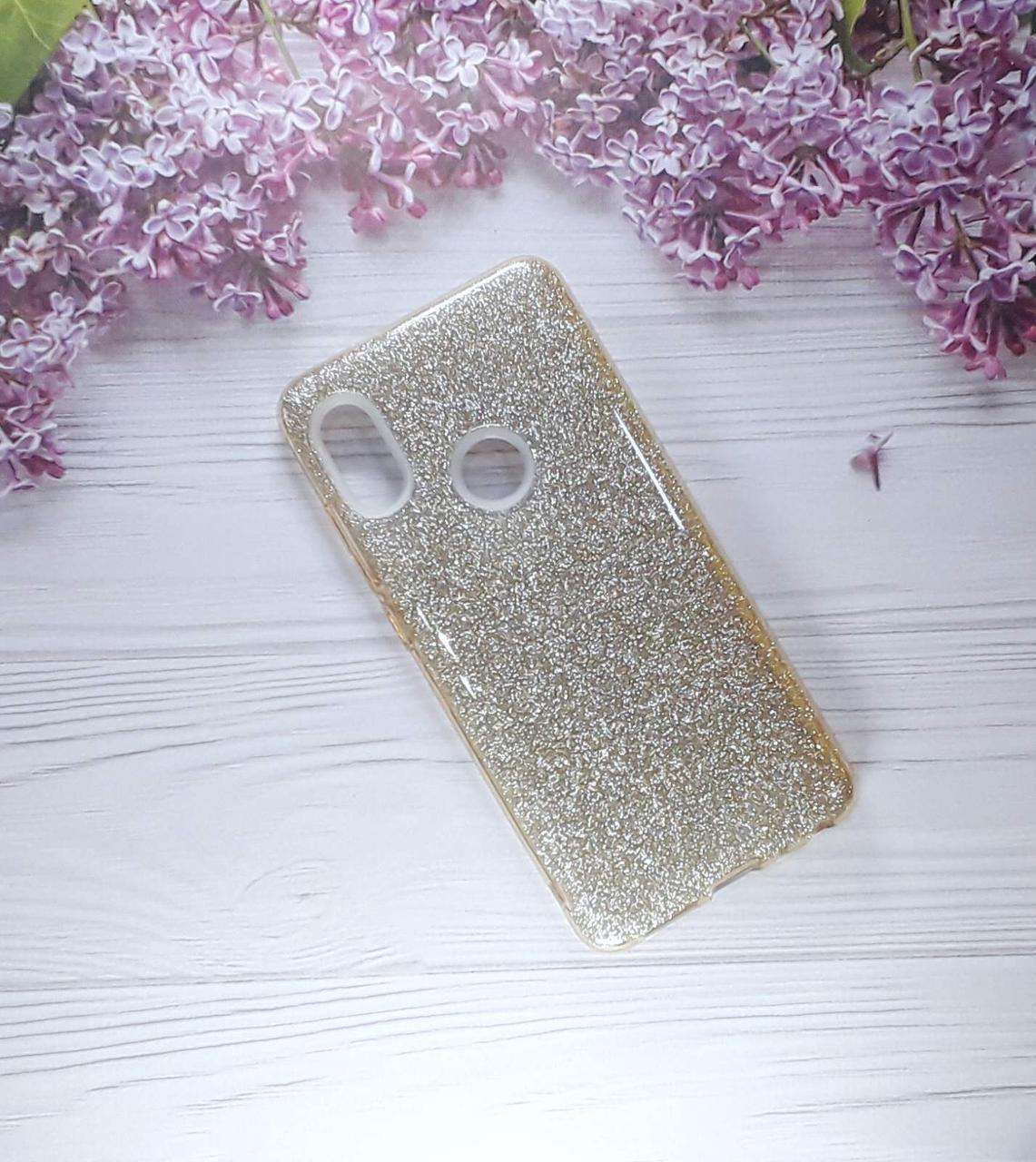Чехол накладка Glitter на Xiaomi Note 5, Gold