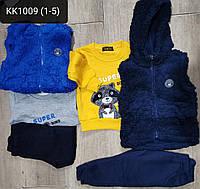 Костюм 3 в 1 для мальчика оптом, S&D, 1-5 лет,  № KK-1009