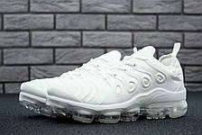 Кроссовки женские Nike Air VaporMax Plus (белые) Top replic, фото 2