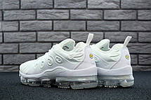 Кроссовки женские Nike Air VaporMax Plus (белые) Top replic, фото 3