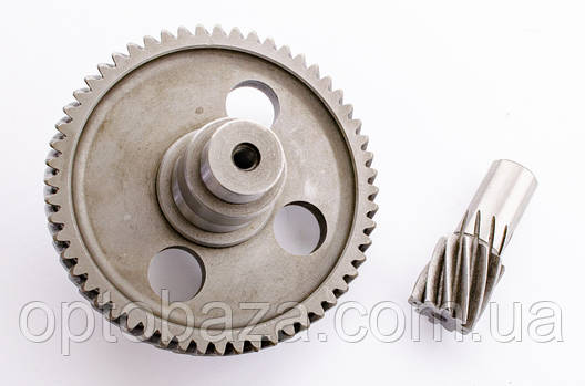 Шестерня большая + малая (124 мм х 20/28 мм) для вибротрамбовки 6.5 л.с., фото 2
