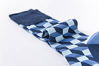 Классические длинные мужские носки клетчатые, фото 3