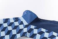 Классические длинные мужские носки клетчатые, фото 4