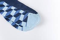 Классические длинные мужские носки клетчатые, фото 6