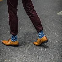 Классические длинные мужские носки клетчатые, фото 7