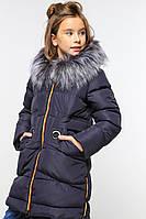 Детское зимнее пальто Жозефина-2 мех чернобурка, фото 1