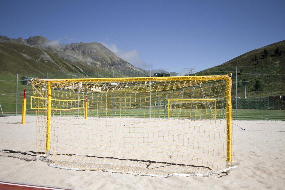 Сетки для пляжного футбола 2.2*5.5*1.1, D- 2.5 мм, яч.120*120 мм