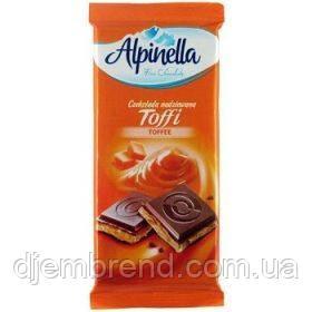 """Шоколад """"Alpinella toffee"""" (альпинелла с начинкой тоффи), Польша, 100г"""