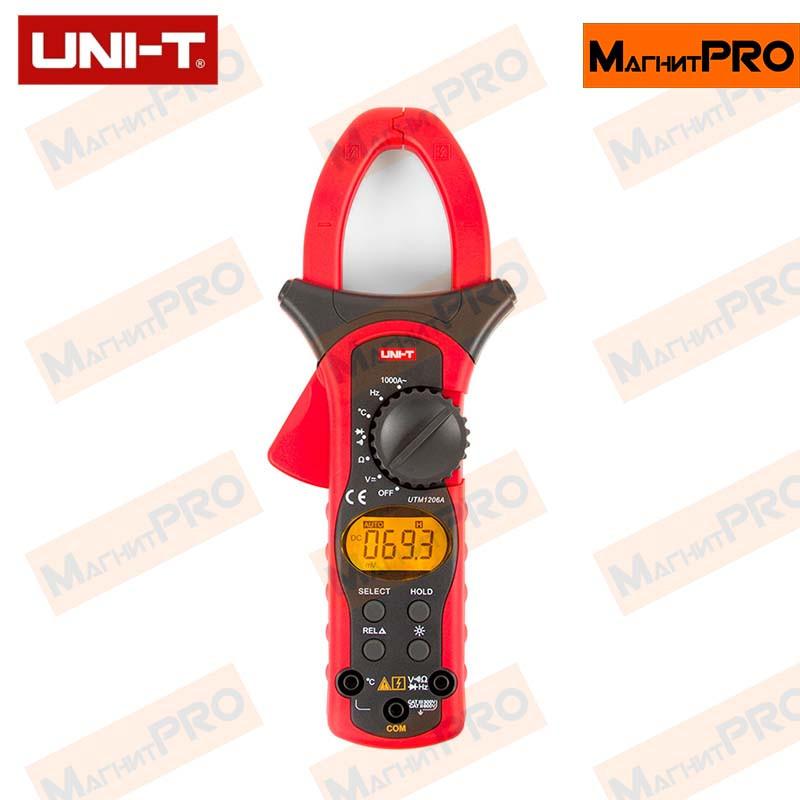Цифровые токоизмерительные клещи UNI-T UTM 1206A (UT206A)