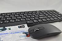 Тонкая беспроводная клавиатура для ПК k06 2.4 G + мышь ( До 50 миллионов нажатий/ соф-тач пластик/Bluetooth), фото 5