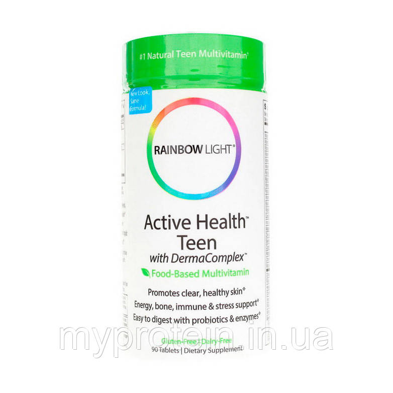 Rainbow Light	Витамины и минералы	Active Health Teen with Derma Complex 	90 tabs