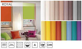 Рулонні штори Royal (17 варіантів кольору)
