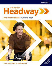 Учебник New Headway 5th Edition Pre-Intermediate Student's Book with Online Practice