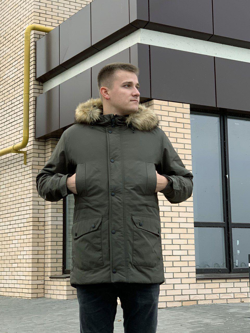 Мужская зимняя куртка-парка Node winter city, хаки и черный