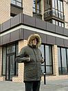 Мужская зимняя куртка-парка Node winter city, хаки и черный, фото 8