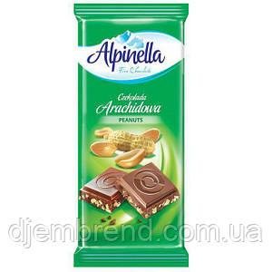 """Шоколад """"Alpinella Peanuts"""" (Альпинелла с арахисом), Польша, 100г"""
