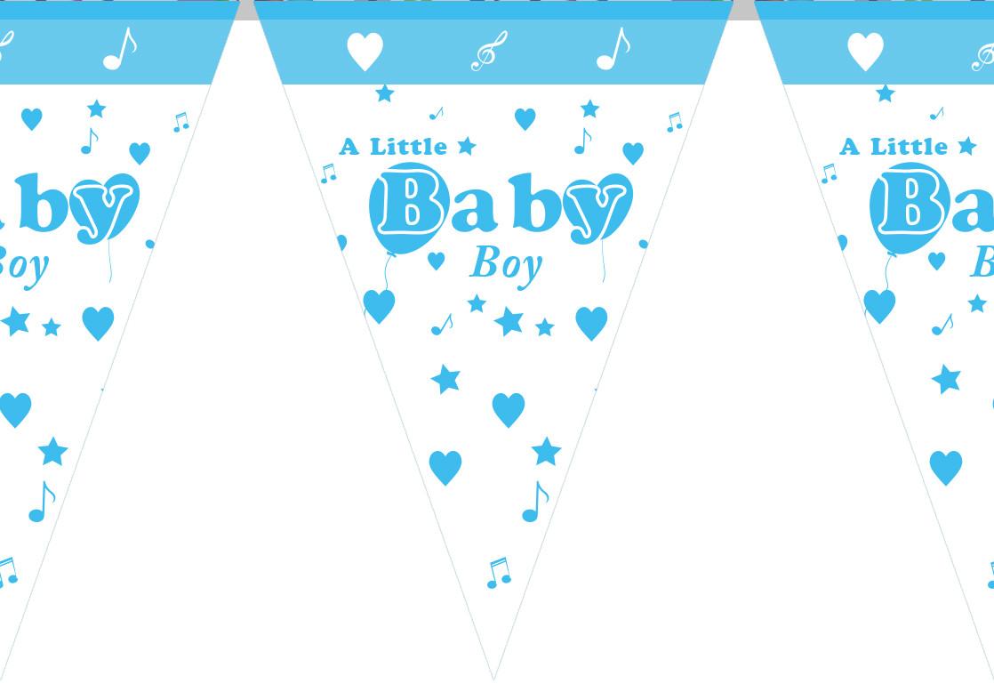 """Гирлянды бумажные """" Baby Boy"""""""